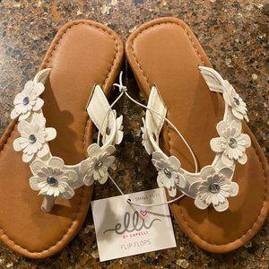 Elli by Capelli Daisy Thong Flip Flop Sandal 10/11